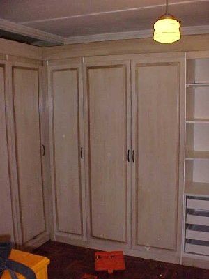 Built in Cupboard, Paint Technique on Supawood (MDF)