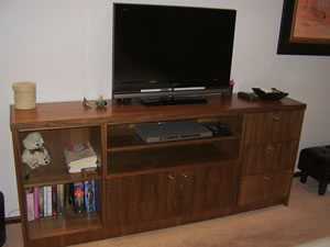 Bedroom Entertainment Centre in Walnut